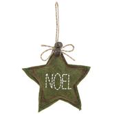 Green Noel Star Ornament