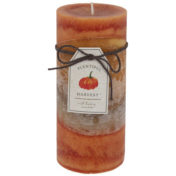 "Plentiful Harvest Pillar Candle - 2 3/4"" x 6"""