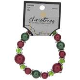 Red & Green Glass Beaded Bracelet