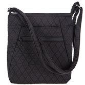 Black Quilted Crossbody Handbag