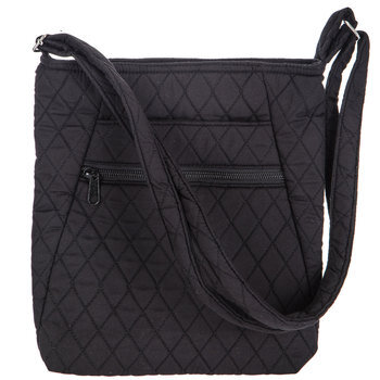 Black Quilted Crossbody Handbag