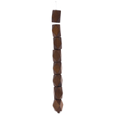 Stained Geometric Wood Bead Strand