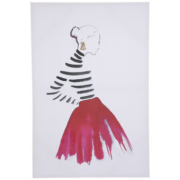 Woman In Pink Skirt Canvas Wall Decor
