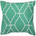 Green & White Moroccan Pillow