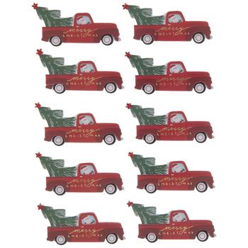 Merry Christmas Trucks 3D Stickers
