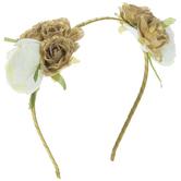Gold & White Flower Headband