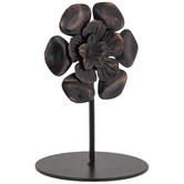 Antique Copper Flower Metal Photo Clip