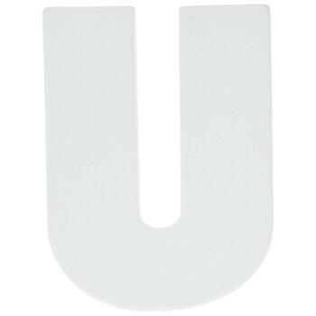 "White Wood Letters U - 2"""