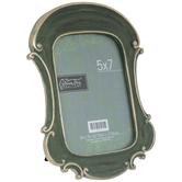 "Antique Green Ornate Frame - 5"" x 7"""