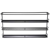 Black Three-Tiered Metal Wall Shelf