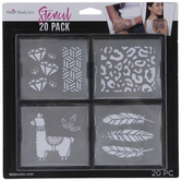 Body Art Adhesive Stencils