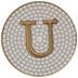 Metallic Gold Letter Coaster - U