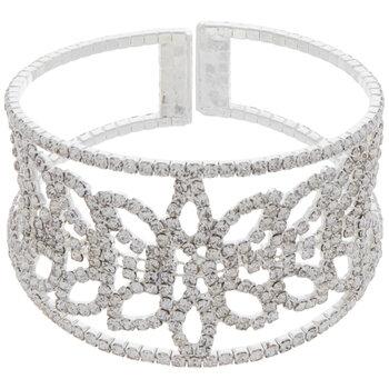 Ornate Rhinestone Cuff Bracelet