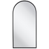 Matte Black Arched Metal Wall Mirror