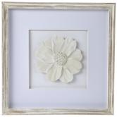 White Flower Framed Wall Decor