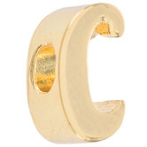14K Gold Plated Cursive Letter Charm - C