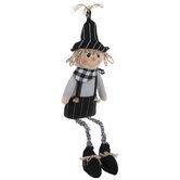 Black & White Scarecrow Shelf Sitter