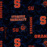 Syracuse Allover Collegiate Fleece Fabric