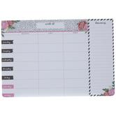 Floral Weekly Meal Planner Pad
