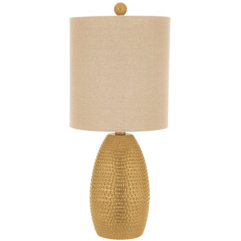 Gold Hammered Lamp
