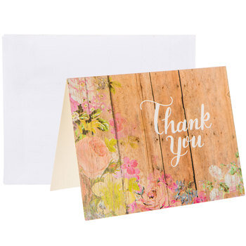 Wood Print Thank You Cards