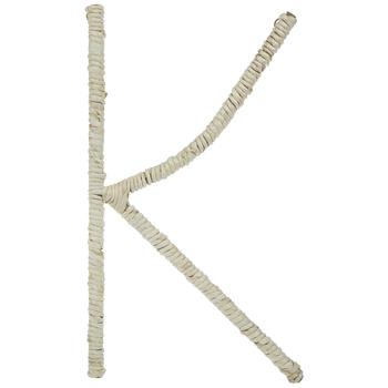 Cornstalk Wrapped Letter Wall Decor - K