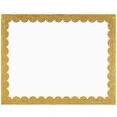 """Gold Glitter Trim Poster Board - 22"""" x 28"""""""