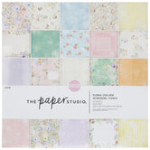 """Floral Collage Cardstock Paper Pack - 12"""" x 12"""""""