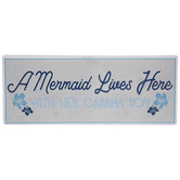 Mermaid & Cabana Boy Metal Sign