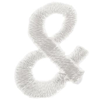 White Ampersand Iron-On Applique - Small
