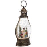 Lantern Light Up Snow Globe