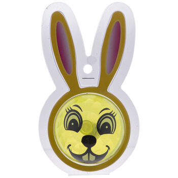 Yellow Light Up Easter Bunny Bouncing Ball