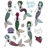 Beach Babe Foil Stickers