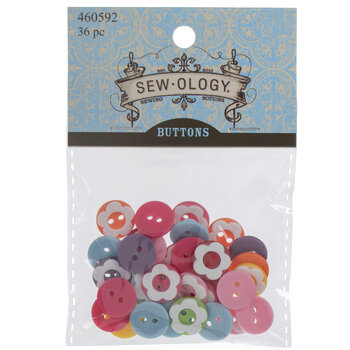 Bright & White Flower Buttons