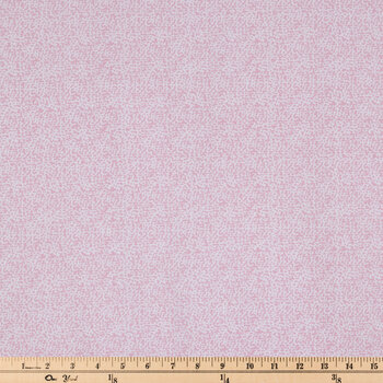 White & Pink Dots Cotton Calico Fabric