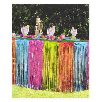 Multi-Color Foil Table Skirt