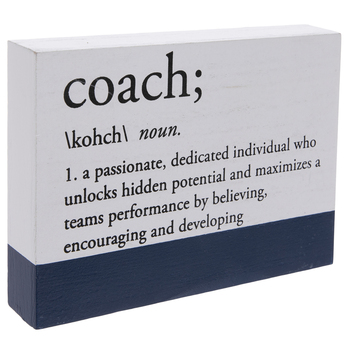 Coach Definition Wood Decor- .50 | Perfect addition for a gift basket for a coach for end of the season!