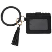 Black Tassel Bracelet Keychain & Wallet