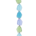 Blue & Green Frosted Faceted Glass Bead Strand