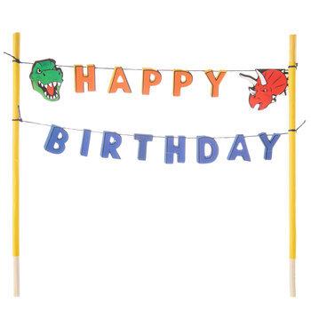 Dinosaur Birthday Cake Banner