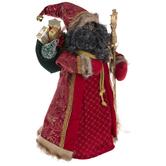 Red & Gold Santa Tree Topper
