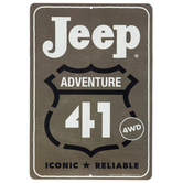 Jeep Adventure 41 Metal Sign