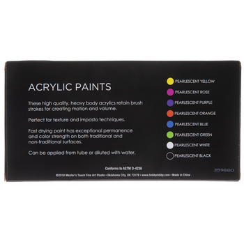 Pearlescent Acrylic Paint - 8 Piece Set