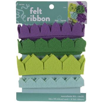 Succulents Felt Ribbon