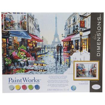 Paris Flower Shop Paint By Number Kit