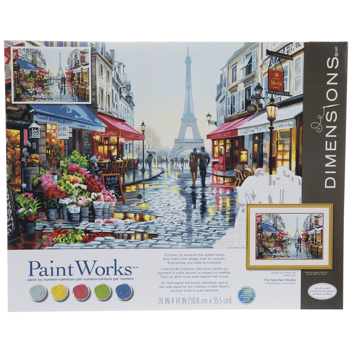 Paris Flower Shop Paint By Number Kit | Hobby Lobby | 643395
