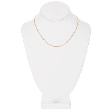 """Fine Figaro Chain Necklace - 16"""""""