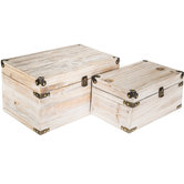 Whitewash Wood Box Set