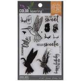 Hummingbird Color Layering Clear Stamps