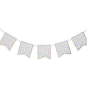 Multi-Color Foil Confetti Pennant Banners